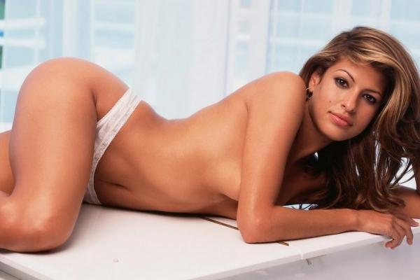 Brunette erotic butt massaged