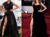 O copiaza pe Angelina Jolie? Ce artista din Romania a purtat o tinuta similara cu cea a actritei - FOTO