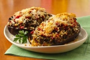 Vinete italiene umplute cu legume si pui