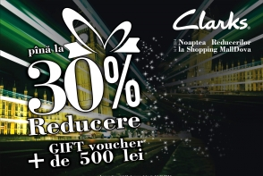 Clarks anunta Noaptea reducerilor cu pana la 30% reducere si vouchere de 500 lei CADOU