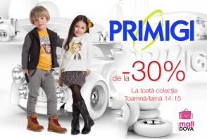 Marca italiana pentru copii, PRIMIGI, a dat start reducerilor de sezon. De la -30% si mai MULT!