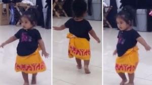 Danseaza mai bine ca Shakira! Cum se misca fetita de doi ani, care danseaza ca o profesionista - VIDEO