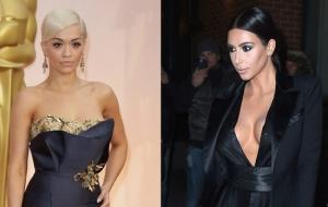 Rita Oira si Kim Kardashian, in tinute identice la petrecerea Madonnei. Cine arata mai bine - FOTO