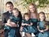 Valeriu Munteanu, alaturi de sotie si cele patru fiice! Cat de mult ii seamana micuta Craita, la doar 6 luni - FOTO