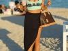 Bust generos si posterior bombat! Vezi cum a aparut vedeta pe o plaja din Miami - FOTO