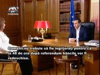 """Grecia se pregateste pentru REFERENDUM: """"Intrebarea este ca o parodie. O persoana care nu stie care este situatia, nu va sti pentru ce sa voteze"""" - VIDEO"""