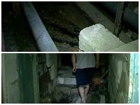 Disperati in fata mizeriei! Locuitorii unui bloc din Chisinau, impotmoliti de cateva luni in fecale: A cedat sistemul de canalizare - VIDEO