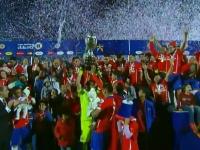 Seara magica pentru Chile: A cucerit pentru prima data Copa America . Messi, fara trofeu la nationala - VIDEO