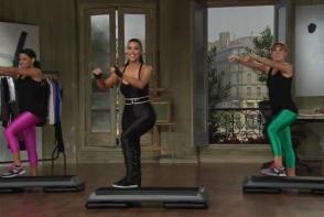 Kim Kardashian te invata cum sa faci step aerobic. Vezi care sunt exercitiile - VIDEO