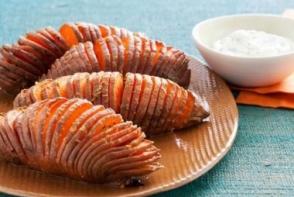 Cartofi dulci in stil acordeon