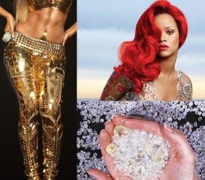 Cele mai bizare lucruri detinute de vedete. Ce diva poarta pantaloni poleiti cu aur si cine are o mina de diamante