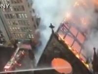 O biserica ortodoxa din New York, mistuita de un incendiu de amploare: Peste 170 de pompieri, trimisi sa luptate cu flacarile - VIDEO