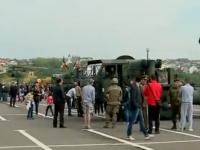 Vizita militarilor americani se amana cu o zi. Blindatele si echipamentul lor a intarziat sa ajunga la Iasi, de unde coloanele vor porni spre baza militara de la Straseni - VIDEO