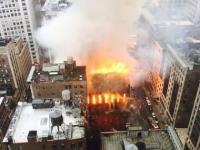 Incendiu urias la o biserica istorica din New York. Cinci persoane au fost ranite - FOTO
