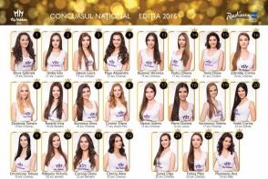 Ele sunt cele 23 de fete, selectate pentru titlul de ,,Miss Moldova 2016