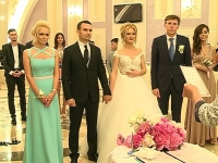 "Dorin Chirtoaca si Anisoara Loghin joaca astazi la nunta finilor, reporterul Pro TV Tatiana Calisciuc si alesul inimii sale, Augustin Nastas. ""Eu ma simt bine ma rog astazi am si un alt rol"" - VIDEO"
