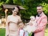 Asa arata o cumetrie moldo-italiana. Vezi cum au ales sotii Diana si Marco Ballerini sa sarbatoreasca botezul fiicei lor - VIDEO