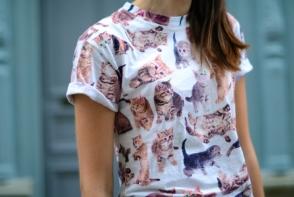 Pentru iubitorii de animale, incearca un trend nou - incadreaza imprimeurile cu pisici in tinute stylish - FOTO