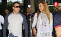 Iulia Vantur si Salman Khan au iesit in public paziti de o armata de bodyguarzi. Iata cum au fost surprinsi - FOTO