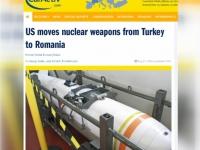 Statele Unite ar fi inceput sa duca armele nucleare pe care le aveau in Turcia spre Romania - VIDEO