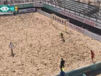 Gol spectaculos, marcat de nationala Moldovei de fotbal pe plaja, in calificarile Campionatului Mondial - VIDEO