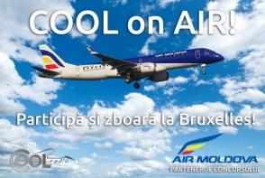"""Participa in concursul """"Cool On Air"""" si castiga bilete in paradisul ciocolatei! Cu Air Moldova zbori la Bruxelles"""