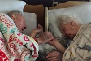 Dupa 77 de ani de casnicie, au murit tinandu-se de mana. Iata impresionanta lor poveste