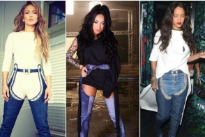 Ruby, intr-o pereche de cizme inalte din denim a la Rihanna si J Lo. Cat de sexy este vedeta - FOTO