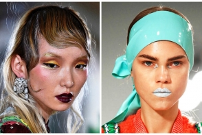 Cele mai ciudate tunsori si machiaje de la Paris Fashion Week - FOTO