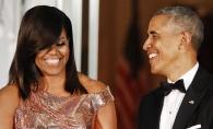 Michelle Obama a stralucit la propriu la ultimul dineu la Casa Alba! Presedintele nu s-a dezlipit o clipa de sotia sa - FOTO