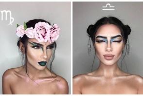 Un artist a creat cele 12 semne zodiacale cu ajutorul makeup-ului! Vezi cat de fascinante sunt lucrarile - FOTO
