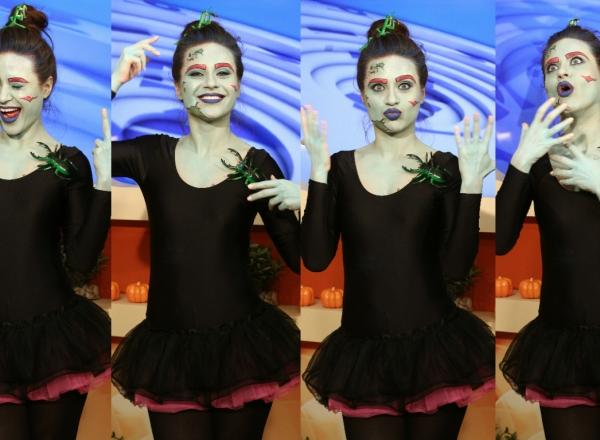 Vlada Cerbusca, prezentatoarea emisiunii Muzica de Acasa, in rolul unei balerine gotice! Vezi editia speciala de Halloween - VIDEO