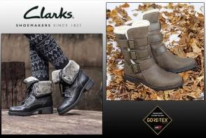 Gata de iarna cu Clarks si tehnologia GoreTex! Noua colectie Toamna/Iarna 2016 - impermiabilitate, confort si picoare uscate!
