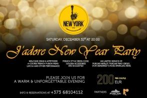 De Revelion distreaza-te ca la New York! Cina in stil francez, DJ si dansuri la J`adore New Year Party