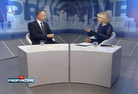 Emisiunea InPROfunzime cu Lorena Bogza. Invitat: Presedintele ales, Igor Dodon