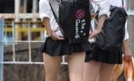Poarta fuste periculos de scurte! Cat de provocatoare sunt uniformele elevelor din Japonia
