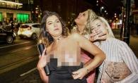 Haos si dezmat pe strazile Londrei de Revelion. Tinerii in stare de ebrietate s-au batut si si-au expus zonele intime - FOTO