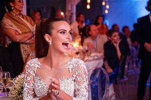 Xenia Deli a aratat noi imagini de la nunta! Fotomodelul a venit cu trasura la cununie - VIDEO