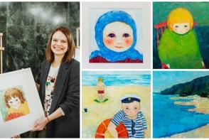 Cezara Kolesnik, pictorita care stie sa redea culorile copilariei. Ajuta copiii nevoiasi procurand o lucrare care sa-ti aminteasca de copilarie