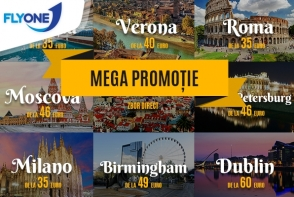 Mega Promotie Fly One! Zboara de la doar 35 euro spre Europa si Rusia!