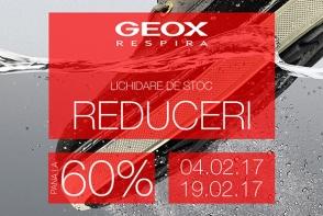 Reduceri de pana la 60% la Geox! Profita acum de oferta