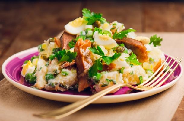 Salata de cartofi cu peste