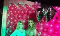 Katalina Rusu si-a sarbatorit ziua de nastere, alaturi de prietene. De la rochie si pana la decor, totul a fost roz  - FOTO