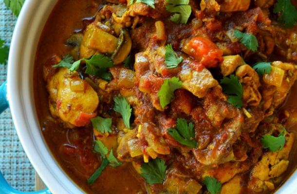 Cartofi picanti, cu sos curry