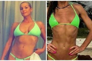 Nu numai Anastasia Volochkova poarta mini bikini. O alta rusoaica isi expune corpul in cele mai mici costume de baie - FOTO