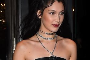 Stilul Gothic revine in forta? Bella Hadid, in cea mai sexy tinuta din anul acesta - FOTO