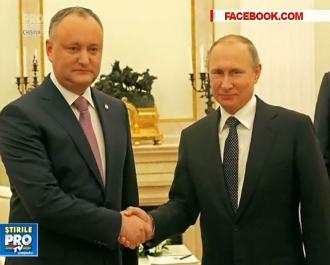 A doua vizita a lui Igor Dodon la Moscova s-a facut remarcata prin patru ore de asteptare in anticamera lui Putin - VIDEO