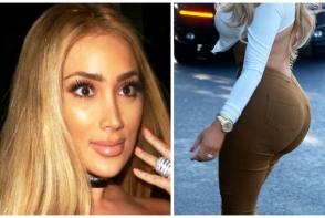 Este sosia lui Kim Kardashian? Seamana la trasaturi, iar fundul ei este la fel de bombat, doar ca e 100 % natural - FOTO
