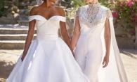 O actrita s-a casatorit cu iubita sa. Ambele au imbracat rochii de mireasa - FOTO