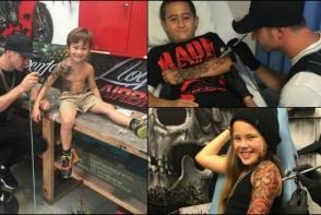 El este artistul care accepta sa tatueze copii. Motivul pentru care face acest lucru a devenit viral - FOTO